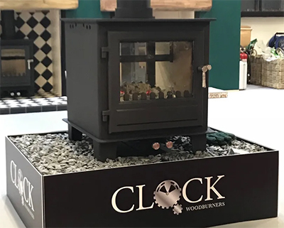 Clock Double Sided Stove